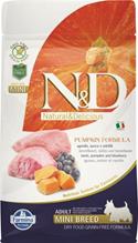 Farmina N&D Pumpkin Line Adult Mini Lamb & Blueberry Grain free / Сухой Беззерновой корм Фармина для взрослых собак Мелких пород Ягненок с Черникой и Тыквой