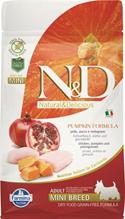 Farmina N&D Pumpkin Line Adult Mini Chicken & Pomegranate Grain free / Сухой Беззерновой корм Фармина для взрослых собак Мелких пород Курица с Гранатом и Тыквой