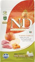 Farmina N&D Pumpkin Line Adult Mini Boar & Apple Grain free / Сухой Беззерновой корм Фармина для взрослых собак Мелких пород Кабан с Яблоком и Тыквой