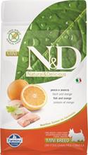 Заказать Farmina N&D GF Adult Mini Fish & Orange / Беззерновой корм для собак Мелких пород Рыба и Апельсин по цене 900 руб