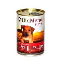 BioMenu Puppy / Консервы для Щенков Говядина Цена за упаковку 410x12