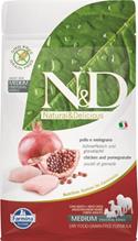 Заказать Farmina N&D GF Adult Medium Chicken & Pomegranate / Беззерновой корм для собак Курица и Гранат по цене 800 руб