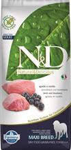 Заказать Farmina N&D GF Adult Maxi Lamb & Blueberry / Беззерновой корм для собак Ягненок и Черника по цене 8280 руб