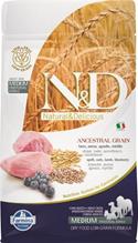 Заказать Farmina N&D LG Adult Medium Lamb & Blueberry / Низкозерновой корм для собак Средних пород Ягненок и Черника по цене 750 руб