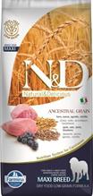 Заказать Farmina N&D LG Adult Maxi Lamb & Blueberry / Низкозерновой корм для собак Крупных пород Ягненок и Черника по цене 5210 руб