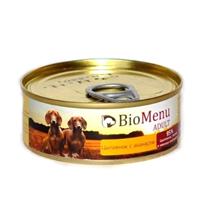 BioMenu Adult / Консервы для Собак Цыпленок с Ананасами Цена за упаковку 100x24