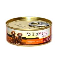 BioMenu Adult / Консервы для Собак Говядина & Ягненок Цена за упаковку 100x24