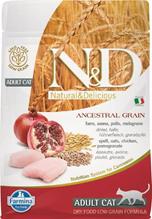Farmina N&D Ancestral Grain Adult Chicken Spelt Oats Pomegranate / Сухой Низкозерновой корм Фармина для взрослых кошек Курица с Гранатом