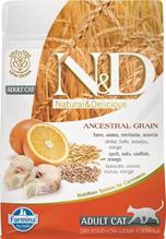 Заказать Farmina N&D LG Adult Codfish&Orange / Сухой корм для кошек Низкозерновой Треска и Апельсин по цене 320 руб