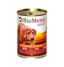 BioMenu Adult / Консервы для Собак Говядина & Ягненок Цена за упаковку 410x12