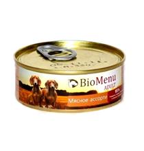 BioMenu Adult / Консервы для Собак Мясное ассорти Цена за упаковку 100x24