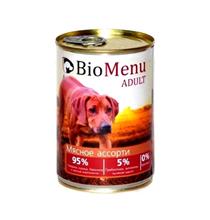 BioMenu Adult / Консервы для Собак Мясное ассорти Цена за упаковку 410x12