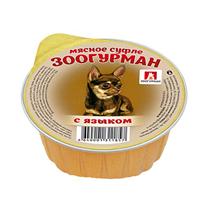 Зоогурман Влажный корм Консервы для собак Суфле с Языком (цена за упаковку)