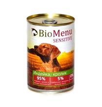 BioMenu Sensitive / Консервы для Собак Индейка & Кролик Цена за упаковку 410x12