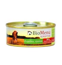 BioMenu Sensitive / Консервы для Собак Индейка & Кролик Цена за упаковку 100x24