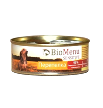 BioMenu Sensitive / Консервы для Собак Перепелка Цена за упаковку 100x24