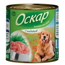Заказать Оскар Консервы для собак Индейка (цена за упаковку) по цене 970 руб