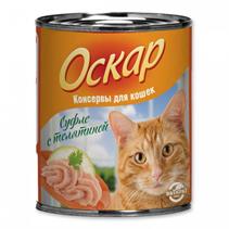 Заказать Оскар Консервы для кошек Суфле с телятиной (цена за упаковку) по цене 1020 руб