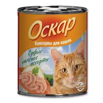 Заказать Оскар Консервы для кошек Суфле Мясное ассорти (цена за упаковку) по цене 1020 руб