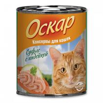 Заказать Оскар Консервы для кошек Суфле с индейкой (цена за упаковку) по цене 1020 руб