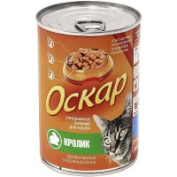 Заказать Оскар Консервы для кошек Суфле с кроликом (цена за упаковку) по цене 1020 руб