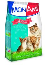 Заказать MonAmi / Сухой корм МонАми для кошек Говядина по цене 1200 руб
