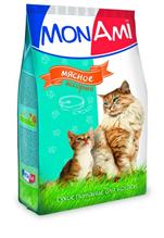 Заказать MonAmi / Сухой корм МонАми для кошек Мясное ассорти по цене 1260 руб