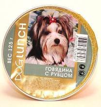 Dog Lunch / Консервы для взрослых собак ДогЛанч Говядина с Рубцом Крем-суфле Ламистер