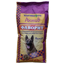 Заказать Фаворит сухой корм для собак Актив по цене 1400 руб
