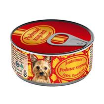 Родные Корма / Консервы Знатные для собак 100% Говядина (цена за упаковку)