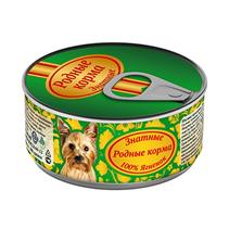Родные Корма / Консервы Знатные для собак 100% Ягненок (цена за упаковку)