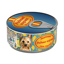 Родные Корма / Консервы Знатные для собак 100% Курица (цена за упаковку)