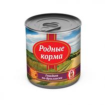 Заказать Родные Корма Консервы для собак Говядина по-Ярославски Цена за упаковку по цене 1390 руб