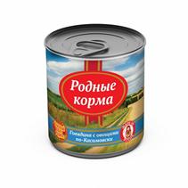 Заказать Родные Корма Консервы для собак Говядина по-Касимовски с овощами Цена за упаковку по цене 1390 руб