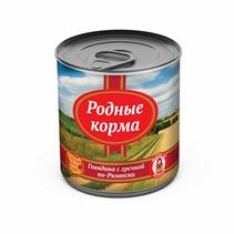 Заказать Родные Корма Консервы для собак Говядина по-Рязански с гречкой Цена за упаковку по цене 1390 руб