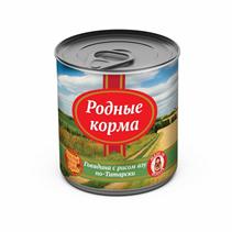Заказать Родные Корма Консервы для собак Говядина по-Татарски с рисом азу Цена за упаковку по цене 1390 руб