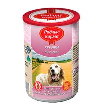 Родные Корма / Консервы для собак Курочка по-Елецки (цена за упаковку)