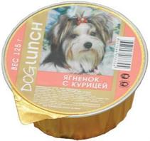 Dog Lunch / Консервы для взрослых собак ДогЛанч Ягненок с Курицей Крем-суфле Ламистер