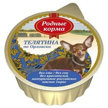 Родные Корма / Консервы для собак Телятина по-Орловски (цена за упаковку)