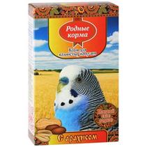 Родные Корма / Корм с Арахисом для Волнистых попугаев