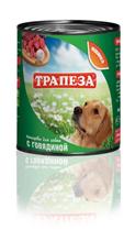 Заказать Трапеза Консервы для собак Говядина Цена за упаковку по цене 950 руб