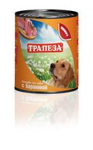 Заказать Трапеза Консервы для собак Баранина Цена за упаковку по цене 990 руб
