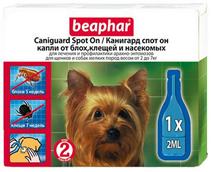 Заказать Beaphar Caniguard Spot On / Капли от Блох, Клещей и Насекомых для Щенков и собак Мелких пород по цене 550 руб