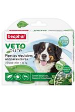Beaphar Veto Nature / Капли Беафар от Блох, Клещей и Комаров с экстрактом Маргозы для собак Крупных пород