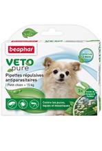 Beaphar Veto Pure / Капли Беафар от Блох, Клещей и Комаров для собак Мелких пород с экстрактом Маргозы и Пиретрума