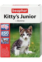 """Beaphar Kitty's Junior +Biotine / Кормовая добавка Беафар для Котят Витаминированное лакомство с Биотином (""""сердечки"""")"""