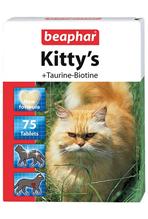 """Beaphar Kitty's+Taurine+Biotin / Кормовая добавка Беафар для кошек Витаминированное лакомство с Таурином и Биотином (""""сердечки"""")"""