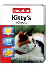 """Beaphar Kitty's+Cheese / Кормовая добавка Беафар для кошек Витаминизированное лакомство с Cыром (""""сердечки"""")"""