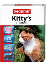 Beaphar Kitty's+Protein / Кормовая добавка Беафар для кошек Витаминизированное лакомство с Протеином
