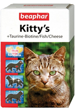 Beaphar Kitty's Mix +Taurin-Biotine / Fish/Cheese / Комплекс витаминов Беафар для кошек Таурин, Биотин, Протеин, Сыр